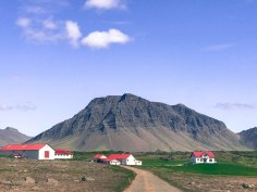 Picturesque homes on the drive to the Snæfellsnes Peninsula