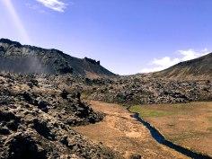 Volcanic rocks on the way to Snæfellsnes