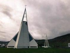 A beautifully modern church in Ólafsvík
