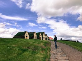 Turf houses in North Iceland