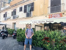 Noshing on local cuisine (tiella)