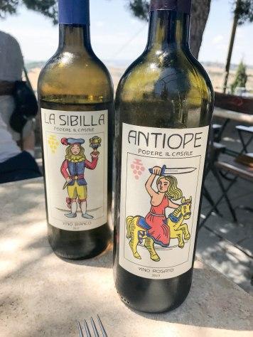 House wine at Trattoria di Cagnano