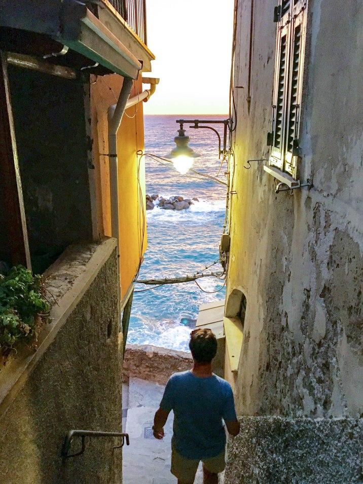 Exploring the alleyways of Riomaggiore