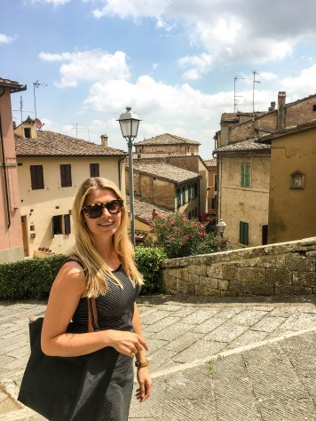 Wandering the cobblestone streets of Montepulciano
