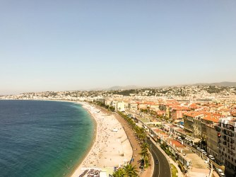 View of the beach from the Nice Chateau/Castle Hill