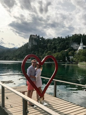Stealing kisses in Lake Bled