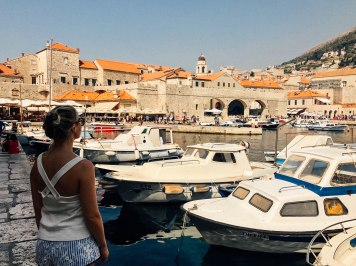 The Dubrovnik Marina. You can hire the boats to take you around the city walls, or drop you off on an island