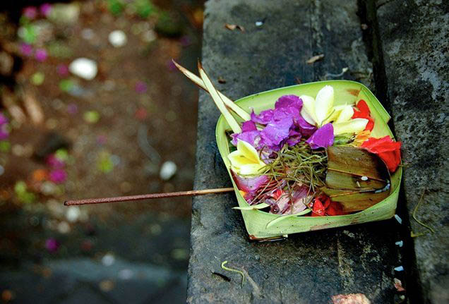 A typical Balinese blessing